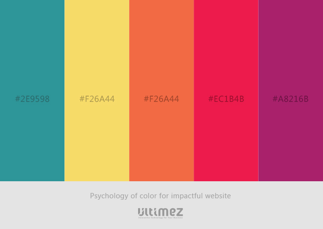 Psychology of Color for impactful website